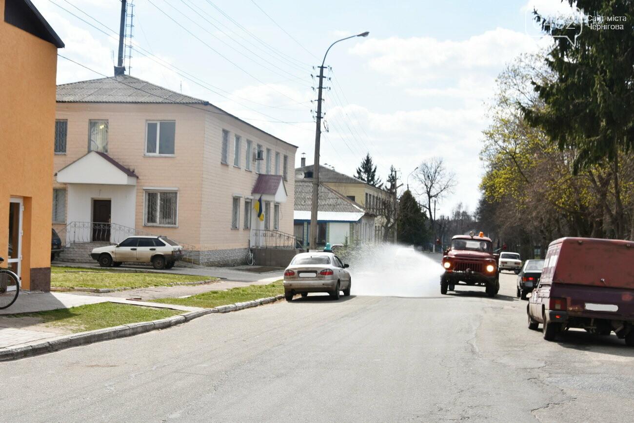 Дезінфекція вулиць. В Чернігівській області вже почали поливати дороги, фото-2