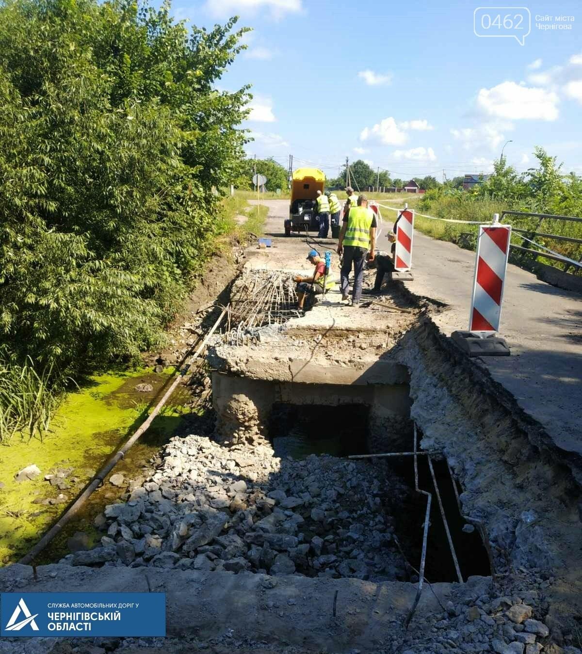 Аварійні мости у Чернігівський області: один відновили, інший розбирають, фото-1