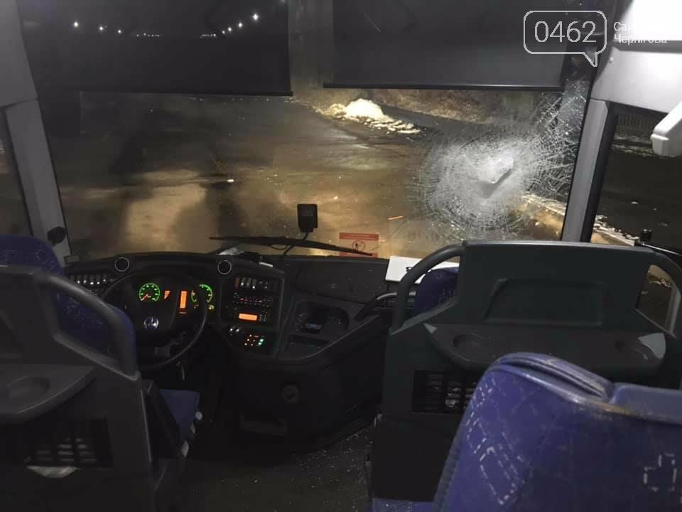 Другий за день напад на чернігівський автобус компанії «Автолюкс», фото-4
