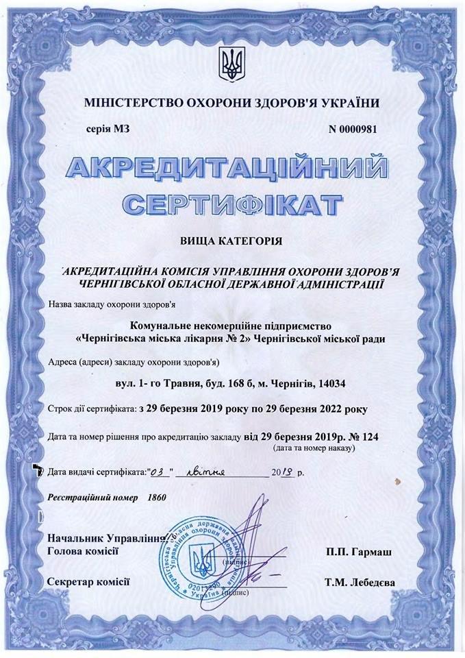 Черниговской городской больнице №2 дали высшую категорию, фото-1