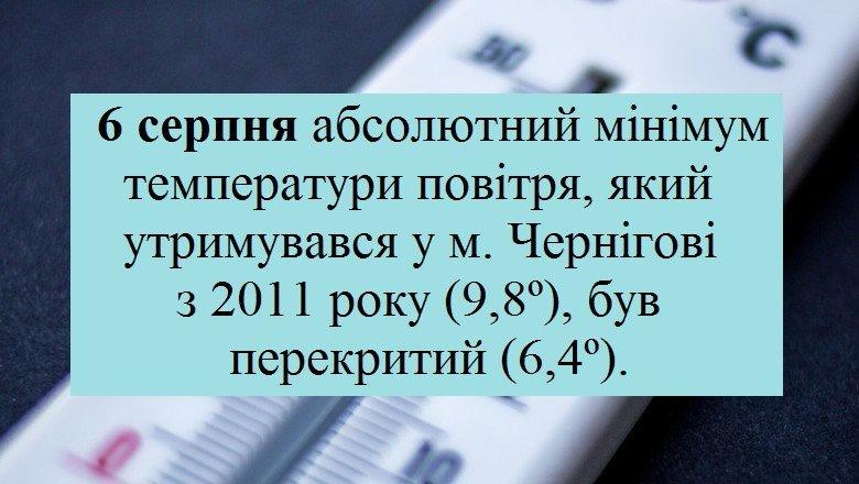 І знову рекорд: ще один день серпня у Чернігові став найхолоднішим, фото-1