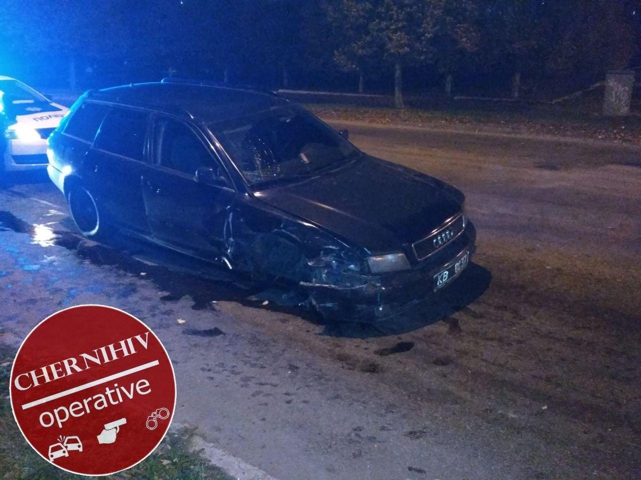 Сбегая от полиции потерял колесо: в Чернигове очередное ДТП, фото-9