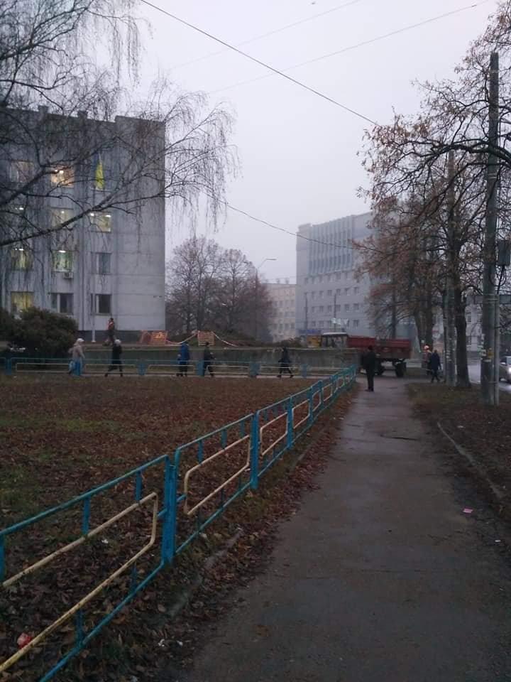 Операция по спасению ёлки провалилась: из-за прорыва трубы в Чернигове пришлось срубить дерево, фото-3