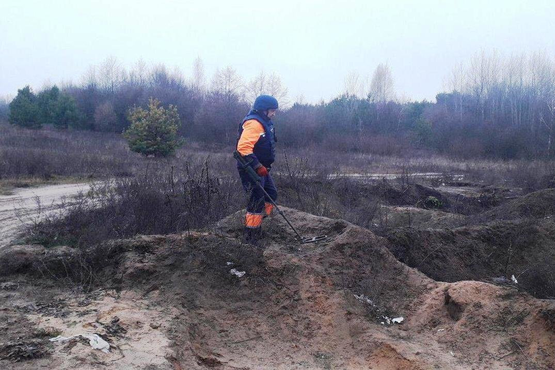 Мина в лесополосе и снаряд на открытой местности: спасатели Черниговщины уничтожили находки, фото-4
