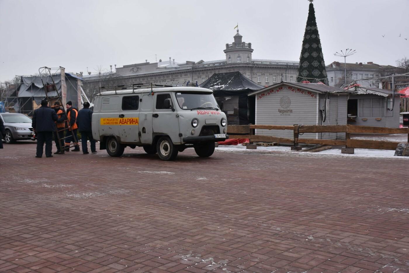 Святкове містечко на Красній площі почали розбирати, фото-7