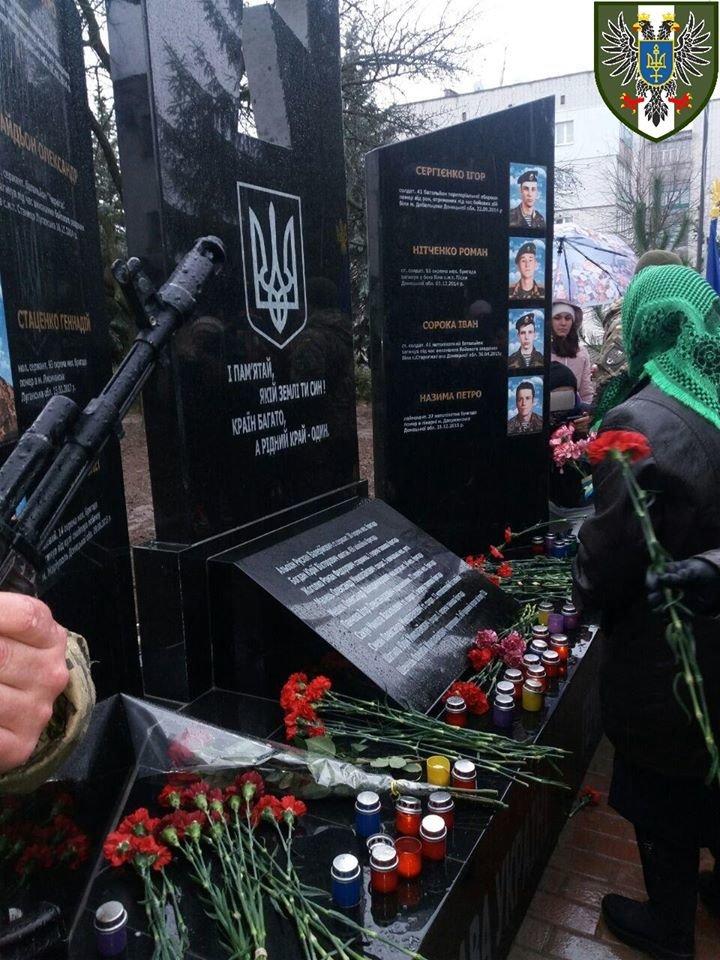 Пам'ятник на честь полеглих в зоні АТО/ООС відкрили на Чернігівщині, фото-7
