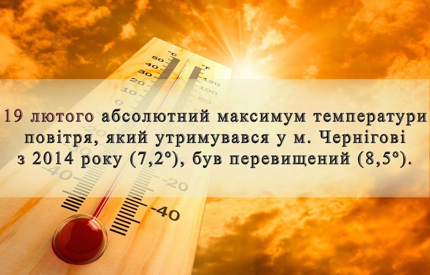 Теплий лютий: два дні поспіль у Чернігові було рекордно тепло, фото-1