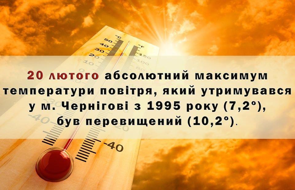 Теплий лютий: два дні поспіль у Чернігові було рекордно тепло, фото-2