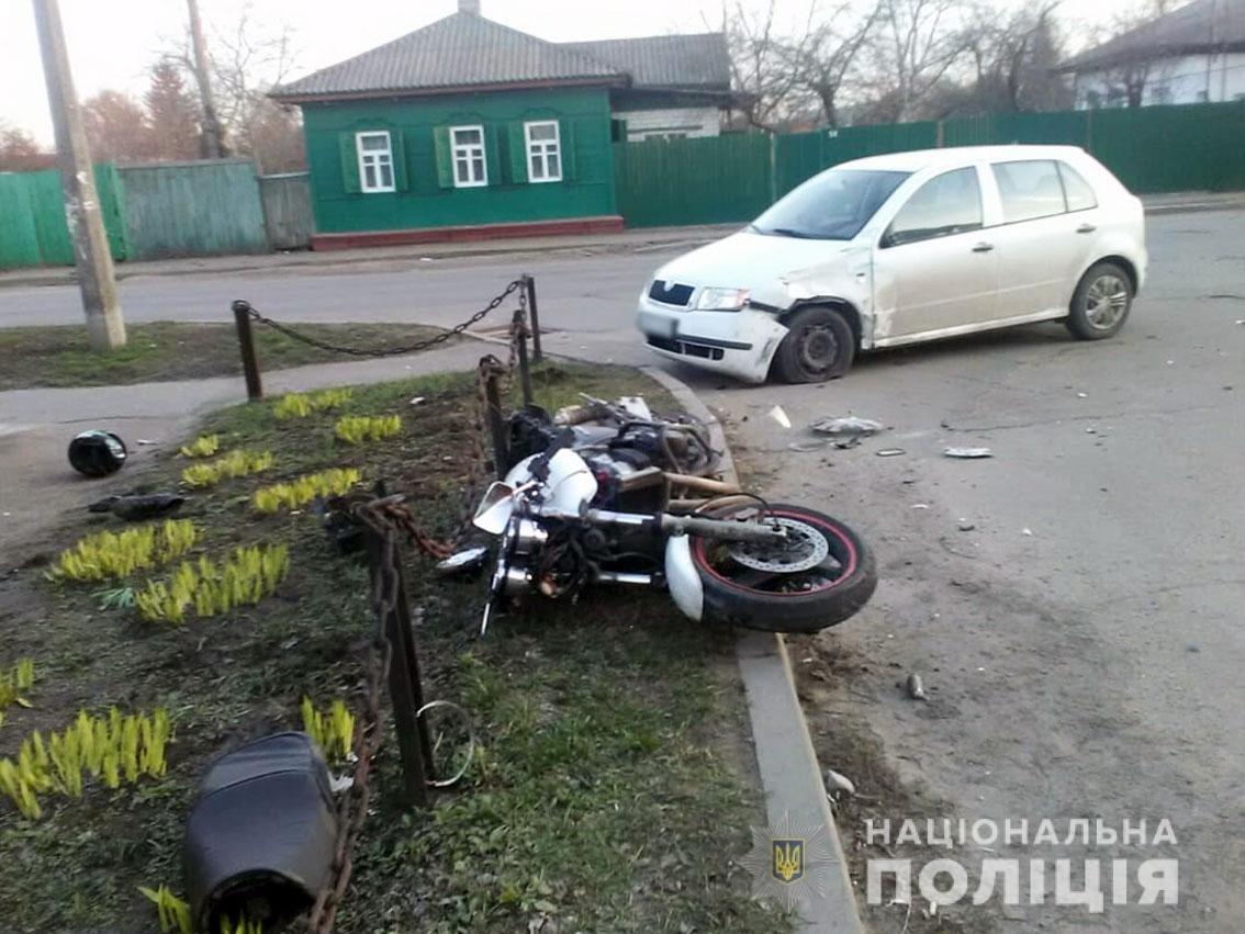 Попал в реанимацию: на Черниговщине ДТП с пострадавшим мотоциклистом, фото-1