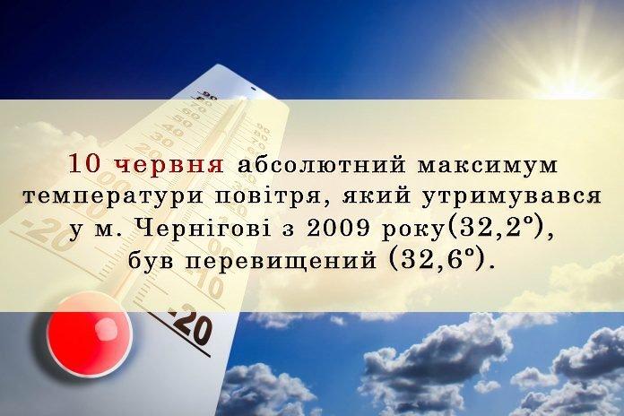 Спека у Чернігові сягнули рекордної позначки, фото-1