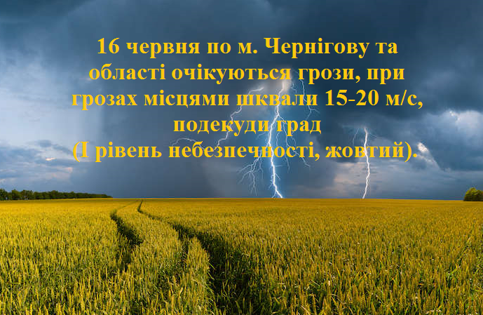 На Чернігів та область насувається гроза зі шквальним вітром: синоптики попереджають про можливий град, фото-1
