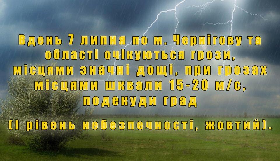 """Увага! Чернігів та область можуть """"накрити"""" грози, град та шквальний вітер, фото-1"""