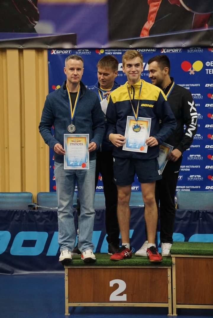 Колишній начальник чернігівського управління транспорту став віце-чемпіоном України з настільного тенісу, фото-1